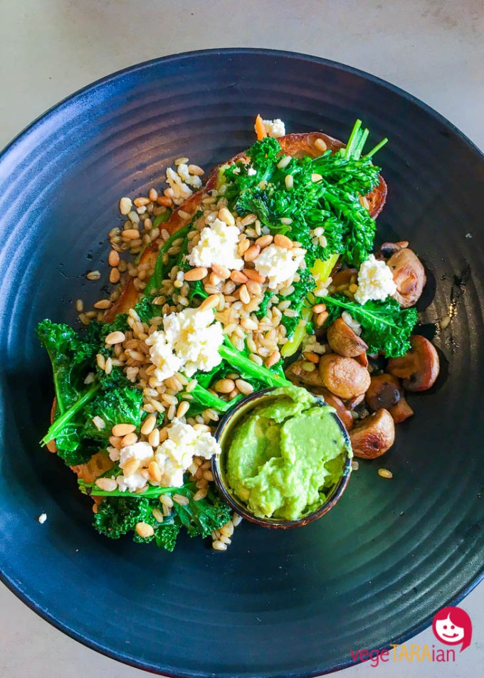 Sauteed kale from Leaf Cafe, Lidcombe