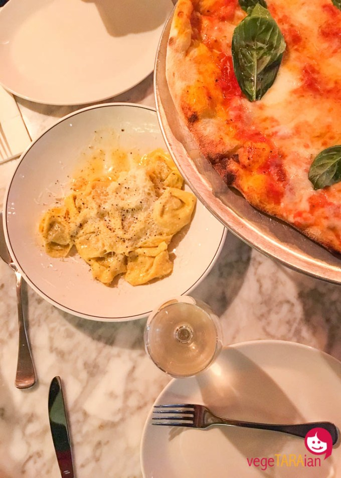 Pasta and pizza at Fratelli Fresh, Westfield Sydney