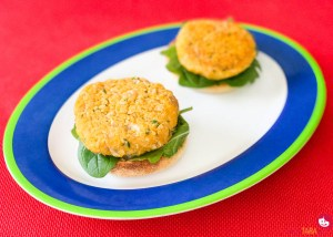 Pumpkin and butter bean patties