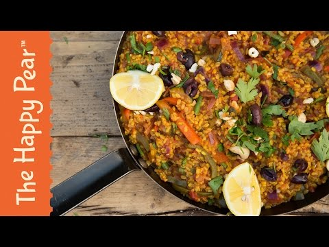 How to make Spanish Roasted Vegetable Paella – The Happy Pear Recipe (VIDEO)