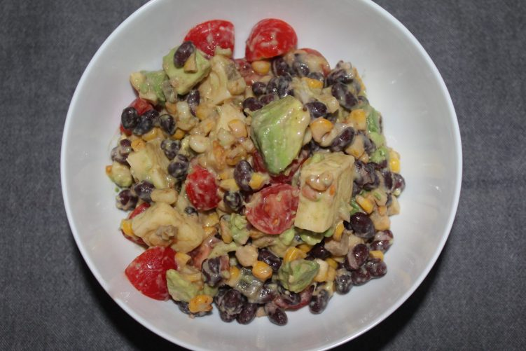 Black Bean Salad recipe by Vegetarian Atlas.