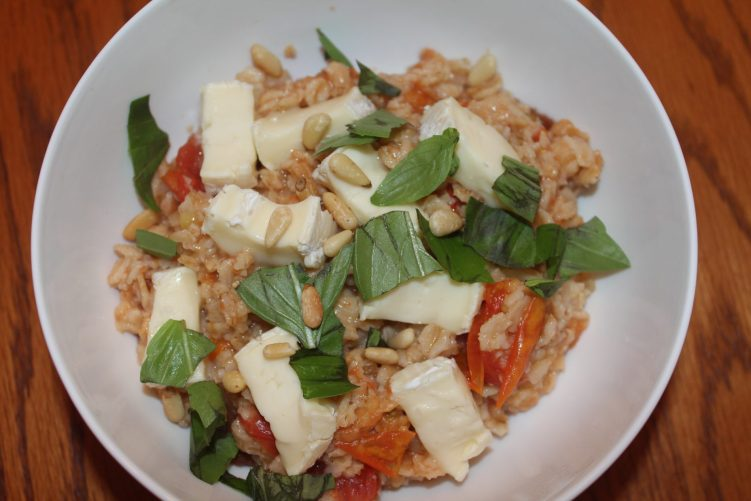 Savory Oats with Brie recipe by Vegetarian Atlas.
