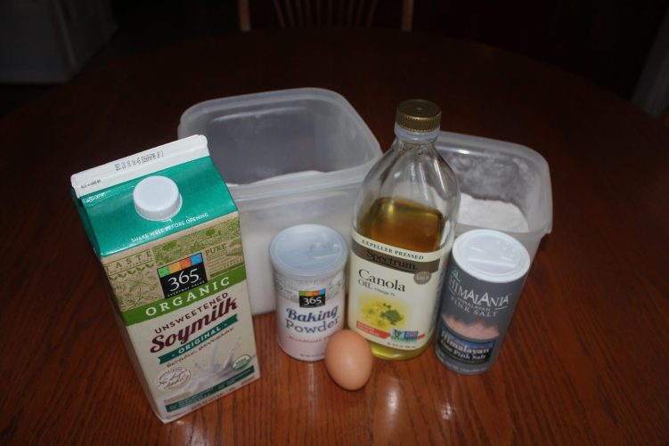 Ingredient for made-from-scratch pancakes