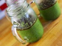 Matcha Green Tea Chia Seed Pudding with Vegan Dark Chocolate Ganache