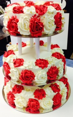 Lovely tiered cake