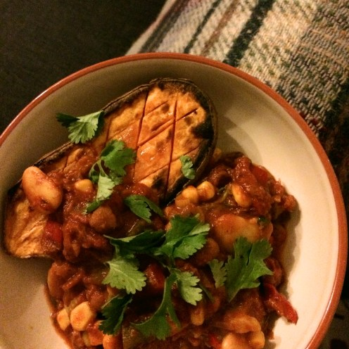 Baked Sweet Potato and Chilli
