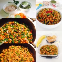 ONE POT MEAL -KIDS LUNCH BOX - RED RICE POHA  WITH GREEN MOONG