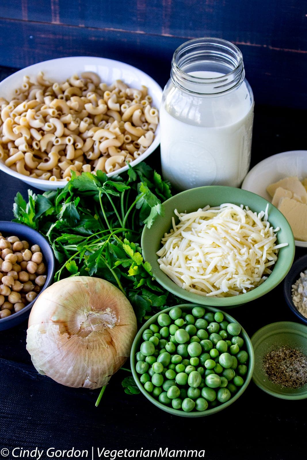 Ingredients of Vegetarian Mock Tuna Casserole