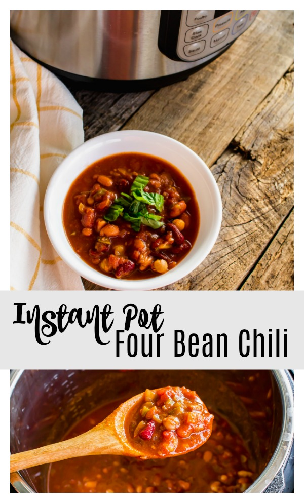 Instant Pot four bean chili pin