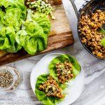 Thai Lettuce Wraps aka Thai Lettuce Cups