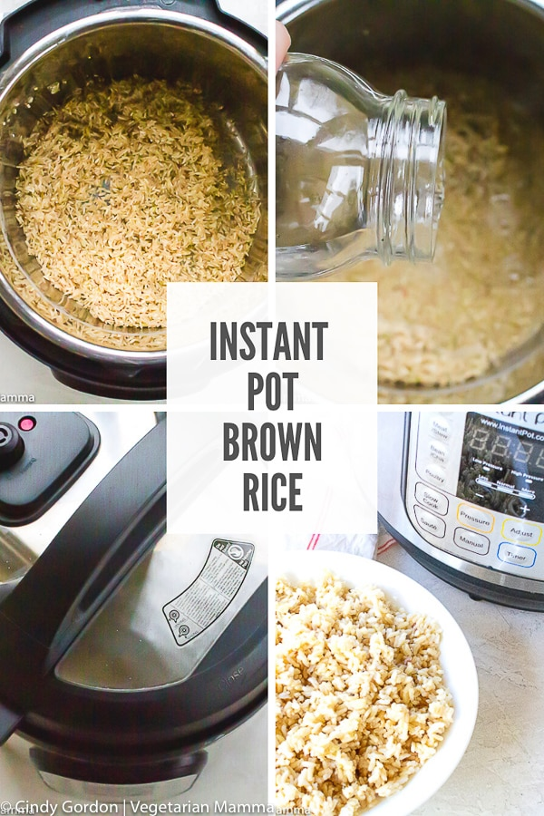 Making perfectly cooked brown rice doesn't have to be a science. Let your Instant Pot do the work! You'll get fluffy, perfectly cooked rice every time!