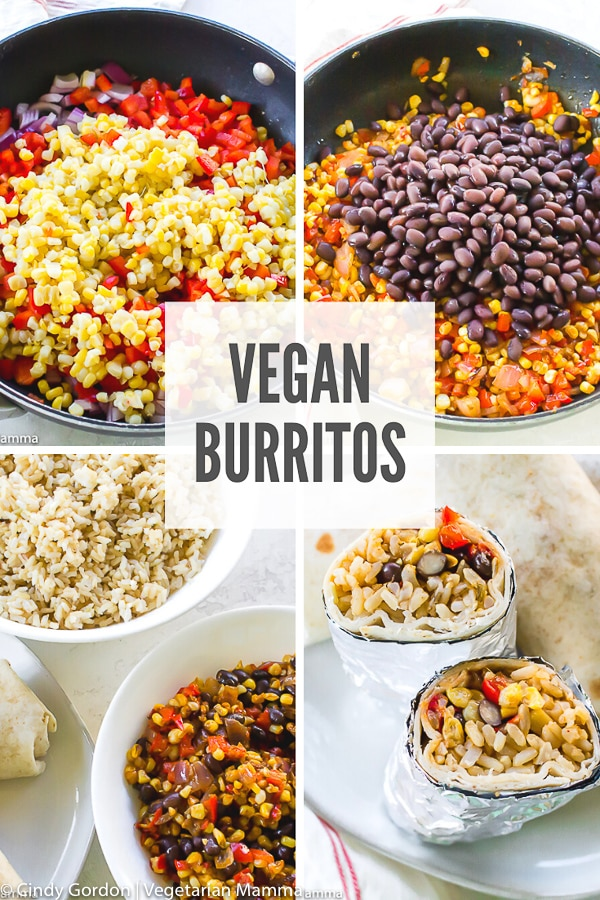Looking for a fun takeout-style recipe that you can make at home? Try these delicious and hearty vegan burritos! They're filled with protein and veggies to keep you satisfied on the go!#burritos #veganburritos #veganrecipes #veganburritofilling
