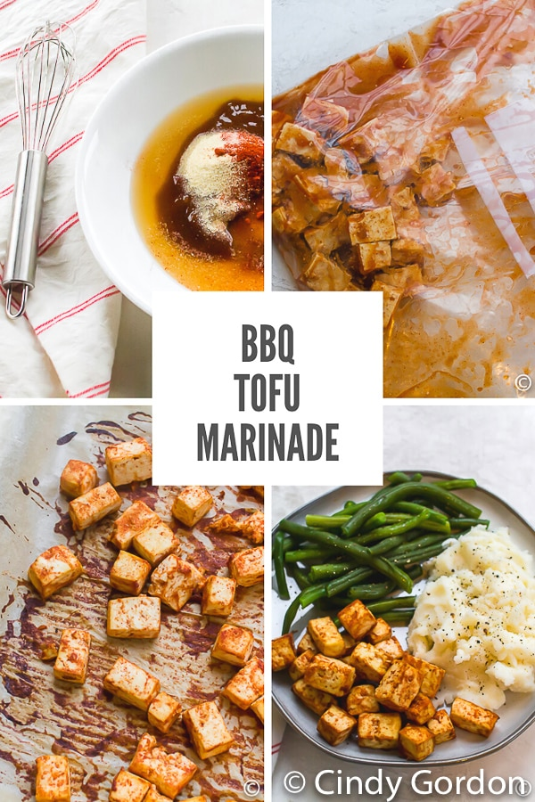 If you're on the hunt for a creative vegetarian dinner recipe, look no further! This BBQ tofu marinade is easy to make and full of sweet and savory flavor! #tofumarinate #tofurecipe