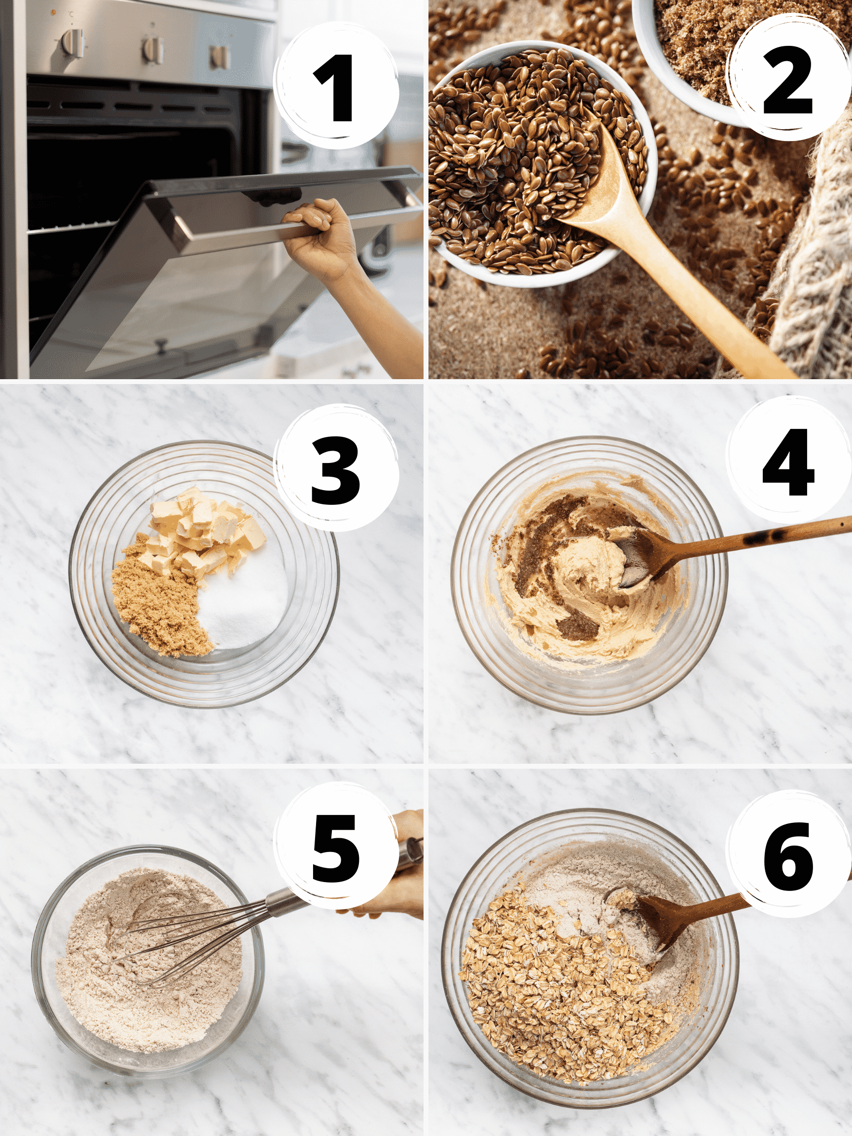 Collage of steps for how to make vegan oatmeal cookie dough
