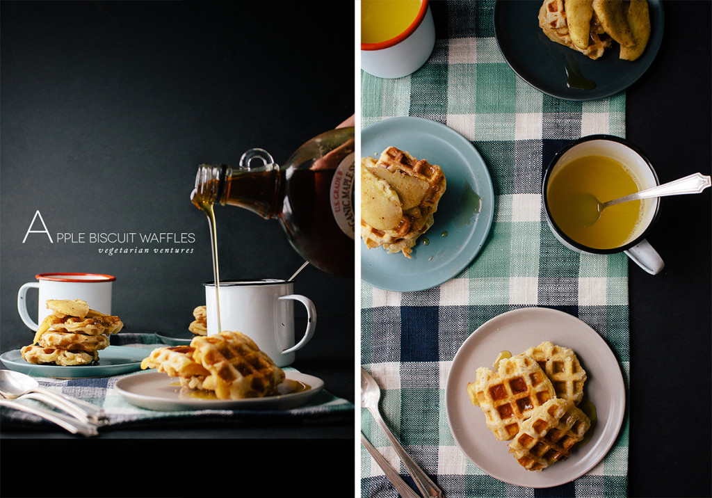 Spiced Apple Biscuit Waffles