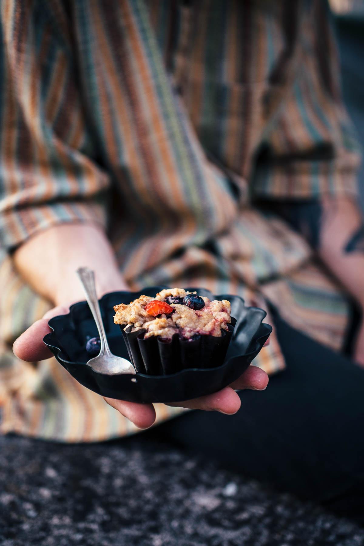 Bakery Style Berry Vegan Muffins