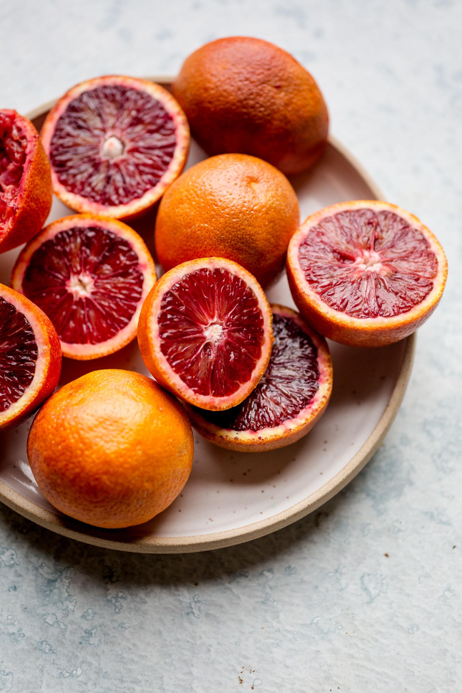 Blood Orange Sorbet with Red Wine Hot Fudge