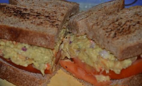 "Chickpea ""Tuna"" Sandwich on Homemade Spelt Challah"