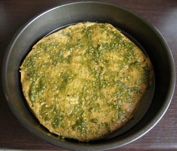 Pizza verde avec pesto