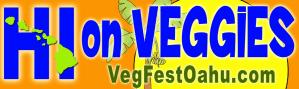 Bumper Sticker HI on Veggies
