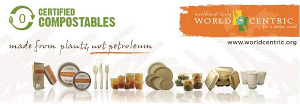 World Centric compostabl product samples