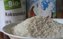 Veganer Milchreis mit Kokosnussmilch zuckerfrei