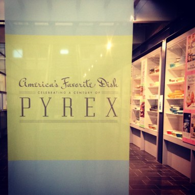 Pyrex exhibit at the Corning Museum of Glass in Corning, NY
