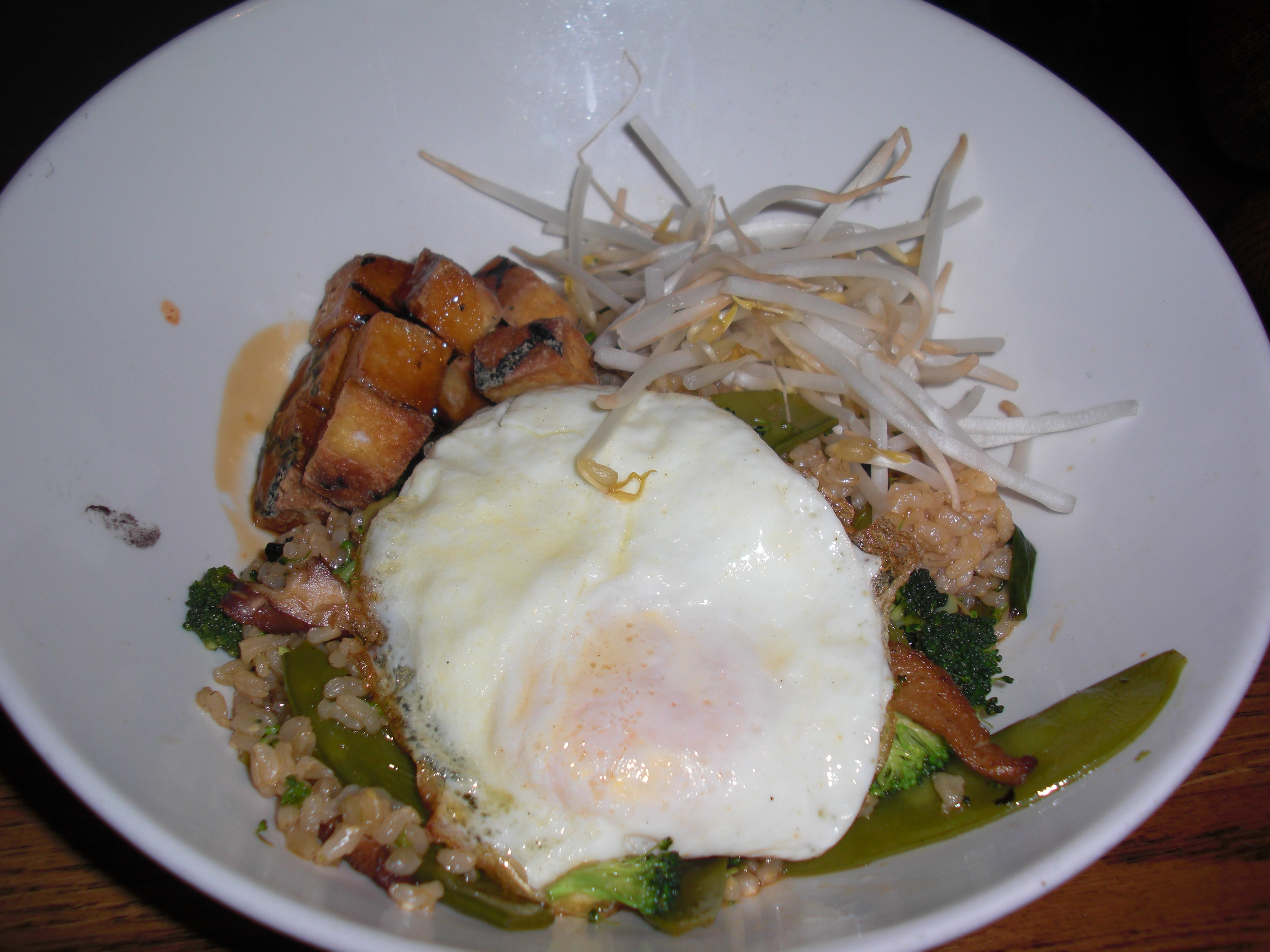 Tofu Vegetable Rice Bowl at Blind Faith
