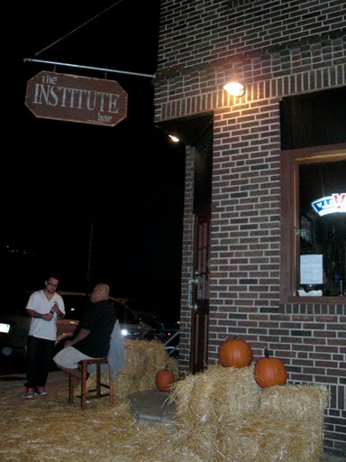 The Institute, decorated for the Pumpkin Fest
