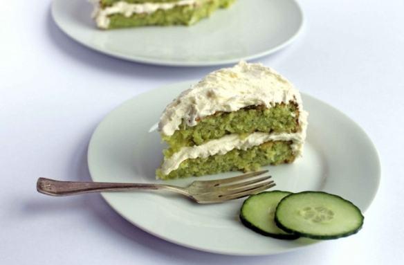 Cucumber and Lemon Cake with Elderflower Icing Recipe   Veggie Desserts