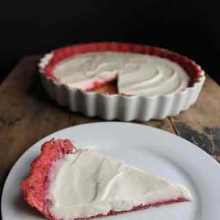 White Chocolate Yogurt Pie with Beet Pastry | Veggie Desserts Blog