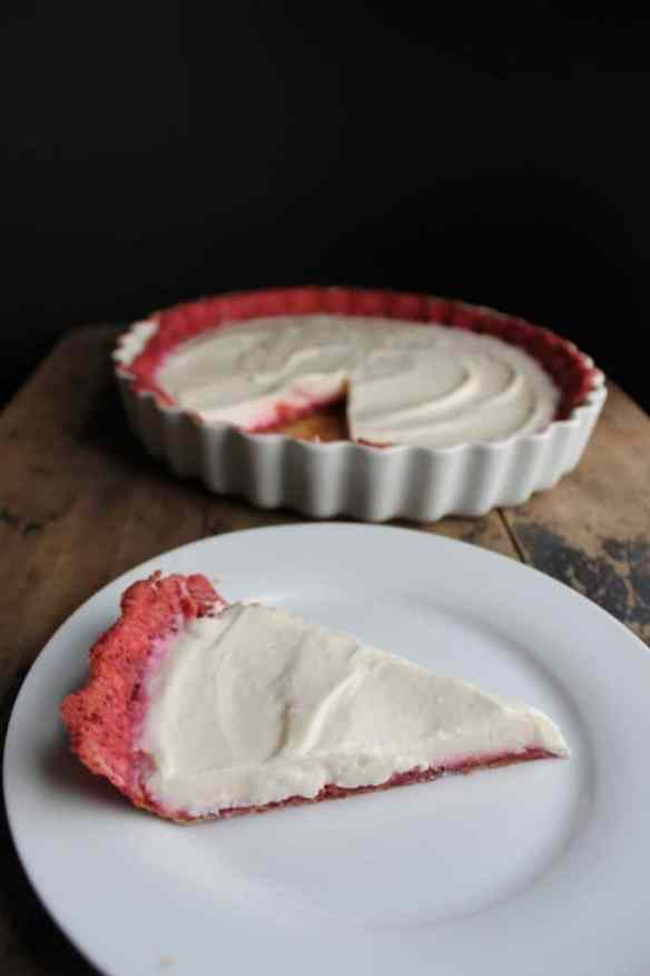 White Chocolate Pie with Beetroot Pastry