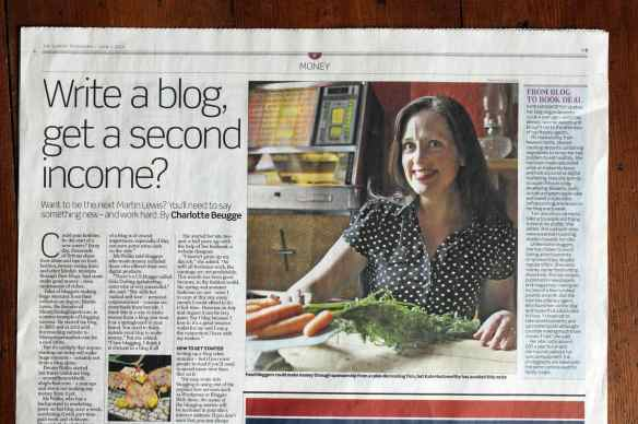 Kate Hackworthy Veggie Desserts in the Sunday Telegraph