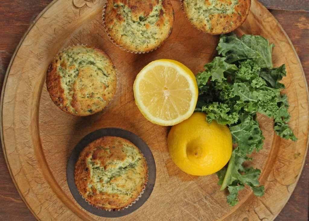 Lemon and Kale Muffins   Veggie Desserts