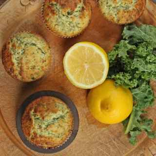Kale and Lemon Muffins | Veggie Desserts