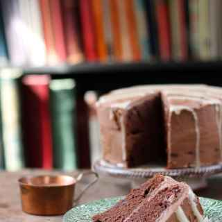 Mashed Potato Chocolate Cake with Tahini Drizzle | Veggie Desserts