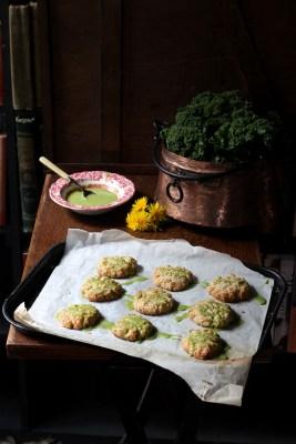 Dandelion Petal and Lemon Cookies with Kale Lemon Drizzle   VeggieDesserts Blog