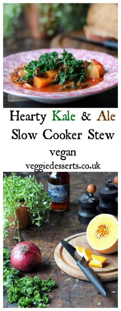 Kale and Ale Slow Cooker Stew | Vegan | Veggie Desserts Blog