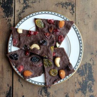 Pumpkin and Spice Dark Chocolate Bark