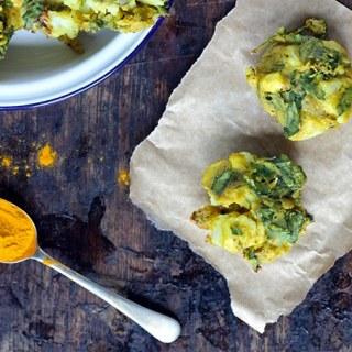 Cauliflower and Spinach Pakoras