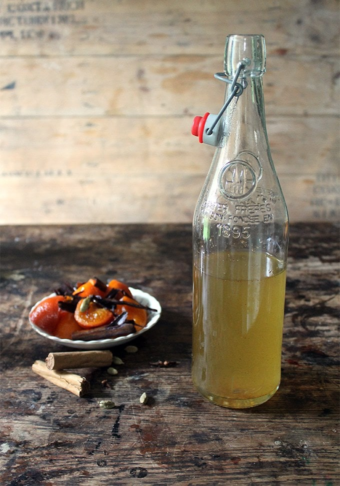 Mulled Simple Syrups for Mulled Gin Cocktail | Veggie Desserts Blog