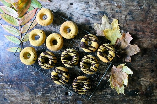 Baked Pumpkin Donuts with Chocolate Glaze   Veggie Desserts Blog