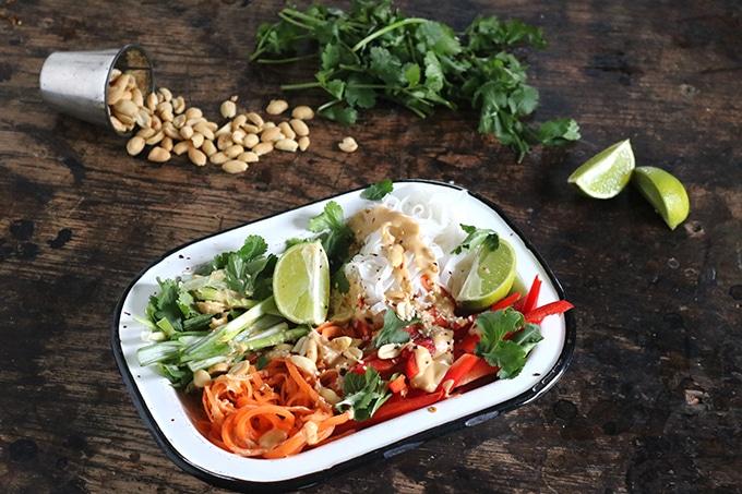 Vegan Noodle Salad with Peanut Sauce | Veggie Desserts Blog