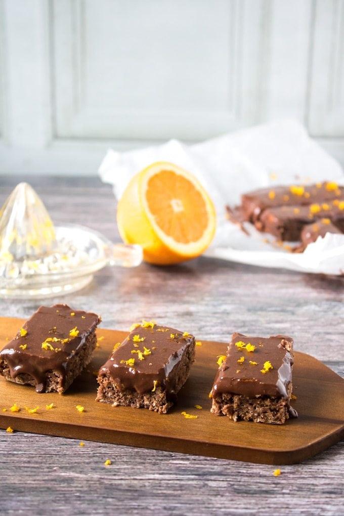 Vegan Chocolate Orange Oat Bars | Veggie Desserts