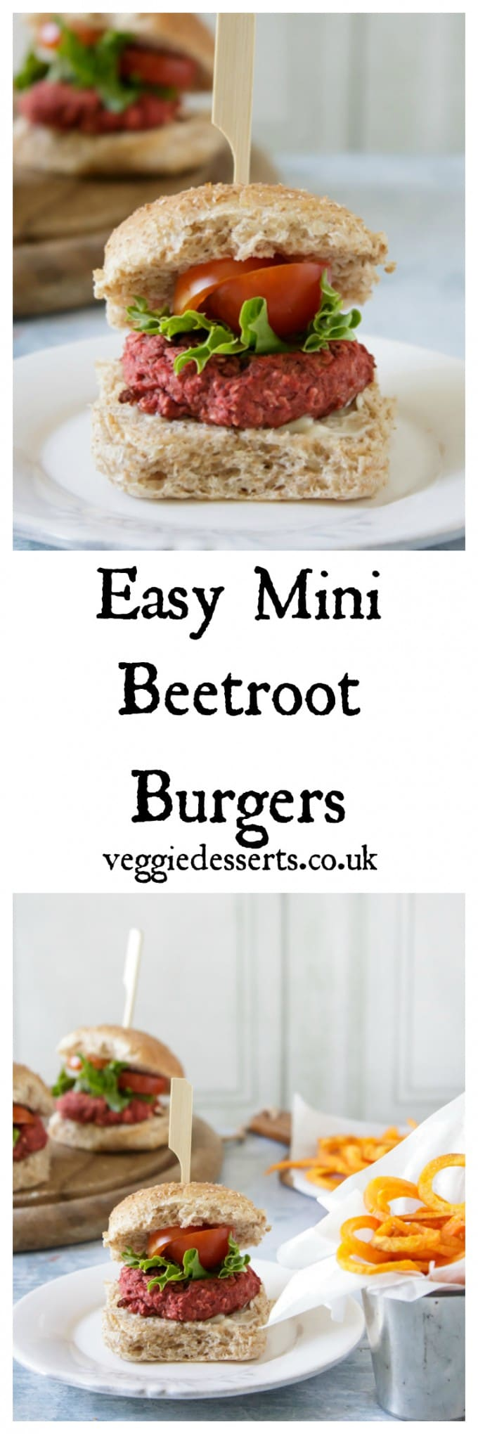 Easy Mini Beetroot Burgers | Veggie Desserts Blog