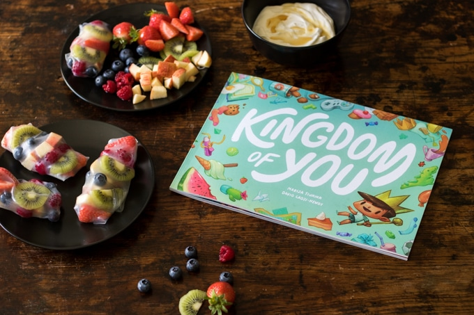 Fruit Summer Rolls with Vanilla Yogurt Dip | Veggie Desserts Blog