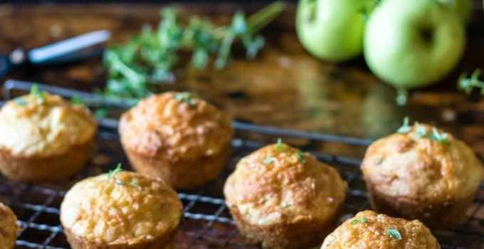 Apple Cheese Muffins with Thyme