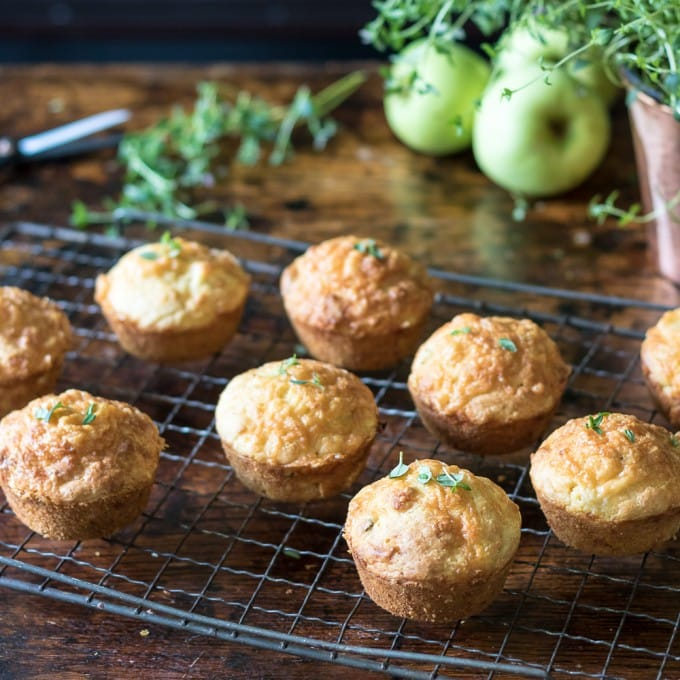 Apple Cheese Muffins with Thyme | Veggie Desserts Blog