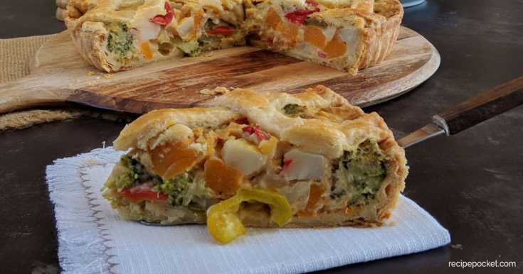 Easy Mixed Vegetable Pie With Shortcrust Pastry