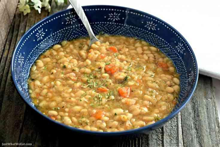 White Bean Soup - Gluten Free & Vegan